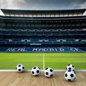 Fotomurales real madrid estadio de fútbol