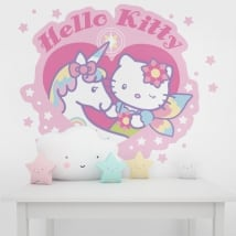 Vinilos y pegatinas paredes hello kitty