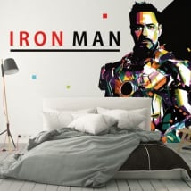 Vinilos decorativos para paredes iron man