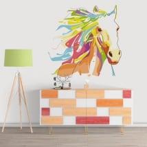 Vinilos decorativos paredes caballo estilo wpap