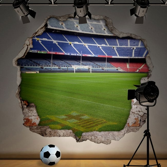 Vinilos estadio de fútbol camp nou barcelona 3d