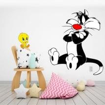Vinilos infantiles el gato silvestre y piolín