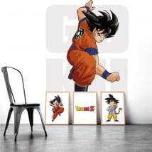Vinilos decorativos paredes goku dragon ball
