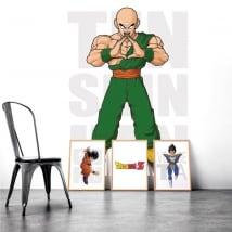 Vinilos adhesivos dragon ball ten shin han