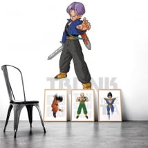 Vinilos adhesivos y pegatinas dragon ball trunk