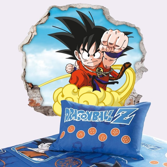 Vinilos paredes dragon ball son goku 3d