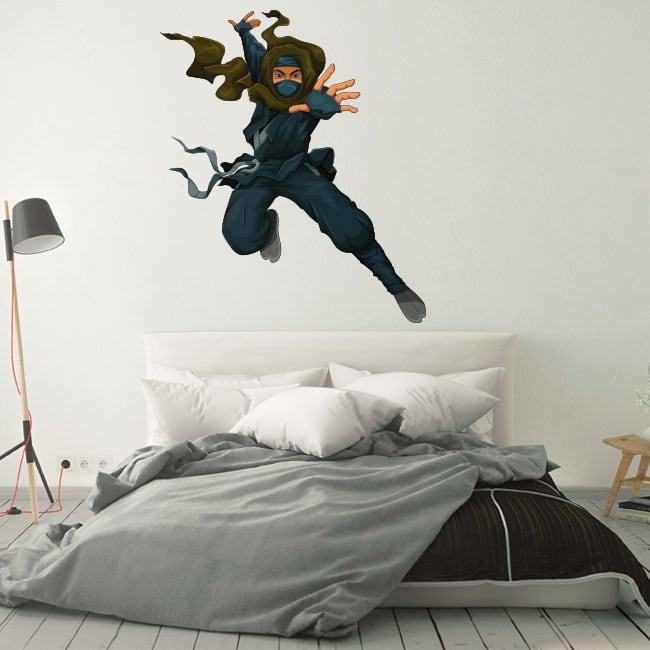 Vinilos decorativos silueta ninja