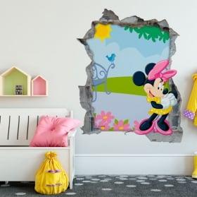 Vinilos de pared minnie mouse disney 3d