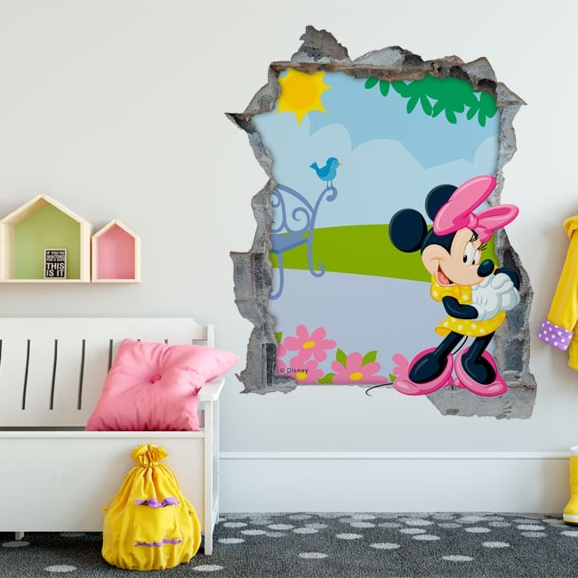 Vinilos de pared minnie mouse disney 3d