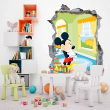 Vinilos de pared disney mickey mouse 3d