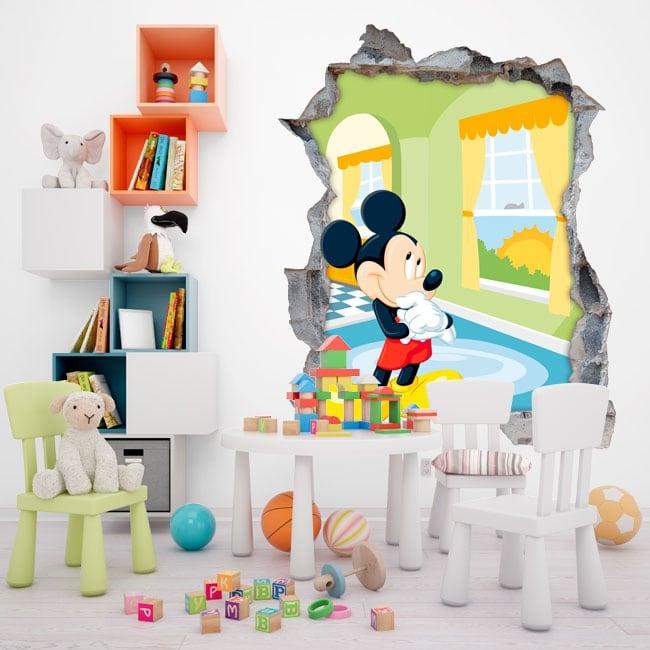 Vinilos Mickey Mouse Para Pared.Vinilos De Pared Disney Mickey Mouse 3d