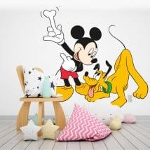 Vinilos infantiles mickey mouse y pluto disney