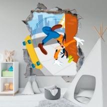 Vinilos paredes disney goofy 3d