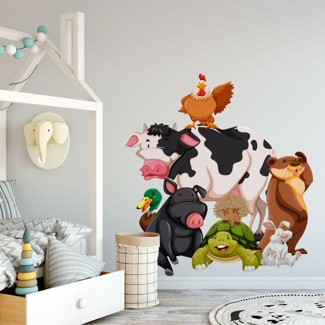 Vinilos infantiles animales de la granja