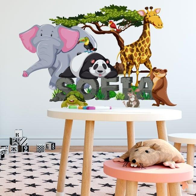Vinilos animales decorar habitaciones infantiles
