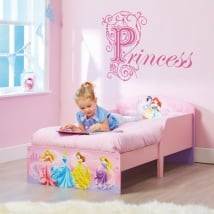 Vinilos decorar habitaciones infantiles texto princess