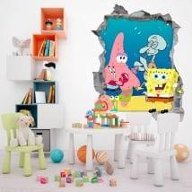 Vinilos bob esponja decorar habitación infantil