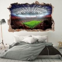Vinilos paredes estadio fútbol mundial rusia 2018 3d