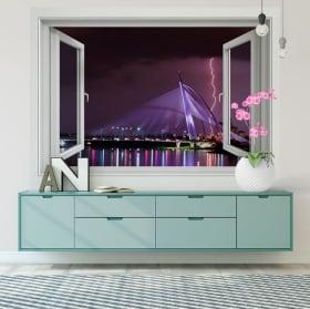 Vinilos ventanas rayos ciudad de putrajaya malasia 3d