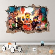 Vinilos agujero pared 3d the lego