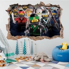 Vinilos y pegatinas lego ninjago 3d