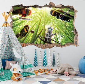 Vinilos decorativos lego ninjago 3d