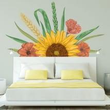Vinilos decorativos decoración girasol y flores