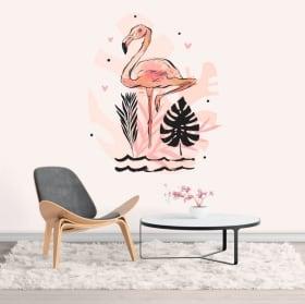 Vinilos y pegatinas flamingo decoración