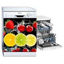 Vinilos lavavajillas frutas splash