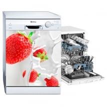 Vinilos para lavavajillas fresas splash
