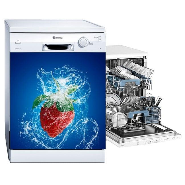 Vinilos adhesivos lavavajillas fresa splash
