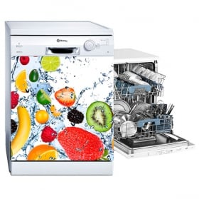 Vinilos para lavavajillas frutas salpicadura agua