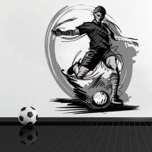Vinilos y pegatinas jugador de fútbol