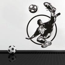 Vinilos decorativos y pegatinas fútbol jugador