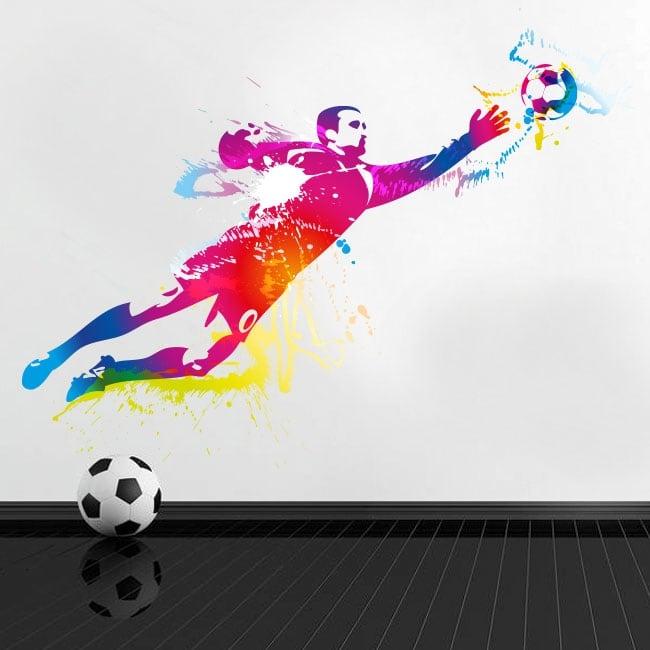 Vinilos y pegatinas portero o guardameta fútbol