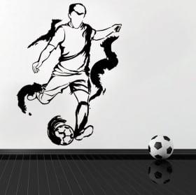 Vinilos y pegatinas silueta jugador fútbol