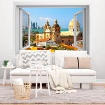 Vinilos ventana cartagena de indias colombia 3d