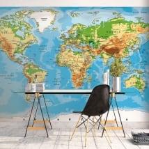 Murales de vinilos para decorar mapamundi