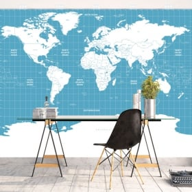 Murales vinilos mapamundi para decorar