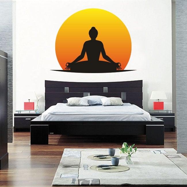 Vinilos adhesivos y pegatinas silueta yoga