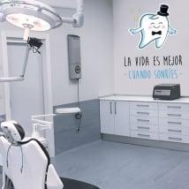Vinilos y pegatinas frases dentistas