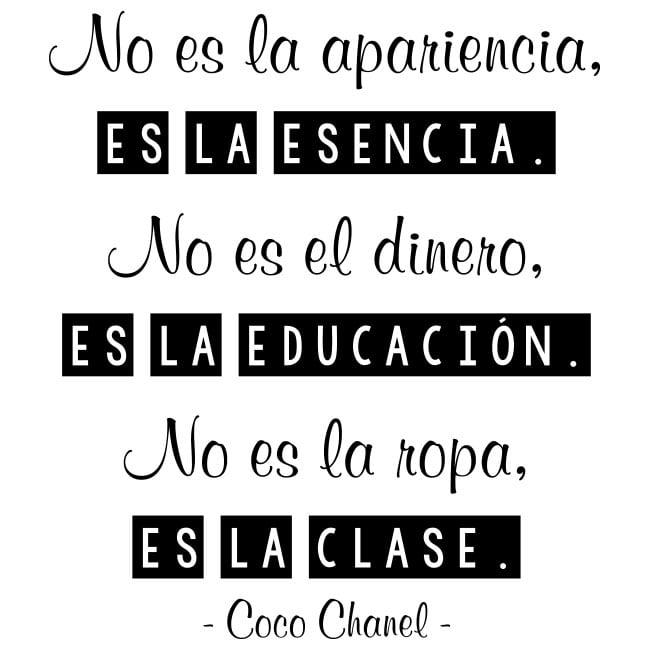 Vinilos Y Pegatinas Frases Coco Chanel