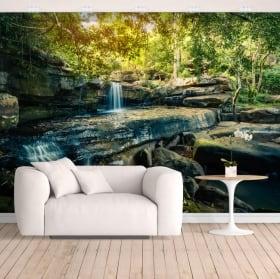 Fotomurales de vinilos cascadas naturaleza tropical