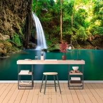 Fotomurales de vinilo cascadas erawan tailandia