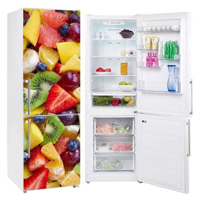 Vinilos decorativos frutas neveras y frigoríficos