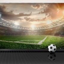 Fotomurales de vinilo panorámica estadio de fútbol