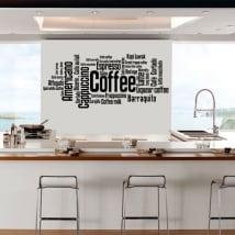 Vinilos decorativos y pegatinas tipos de café