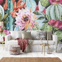 Fotomurales de vinilo flores paraíso tropical