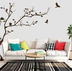 Vinilos decorativos y pegatinas rama de árbol