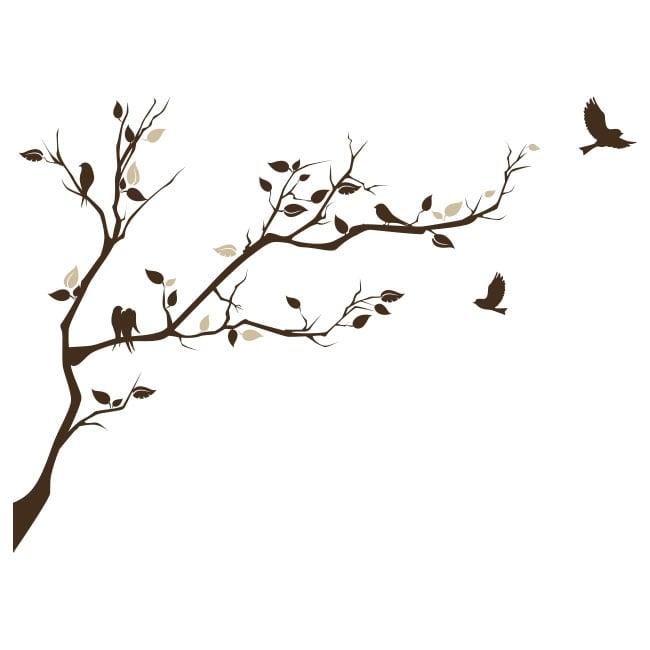 Vinilos rama de rbol y p jaros para decorar - Vinilos de pajaros ...